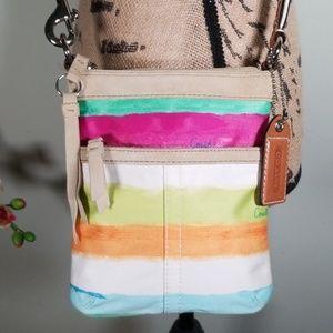 Coach Leather/Canvas Crossbody/Shoulder Bag